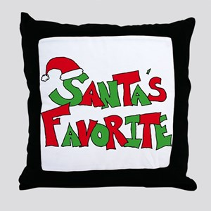 Santa's Favorite Throw Pillow