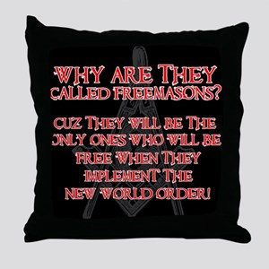 Anti-Masonic Throw Pillow