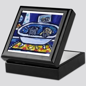 Pugs bath Keepsake Box