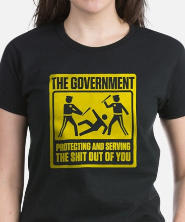 Government: Protect & Serve Women's Dark T-Shirt