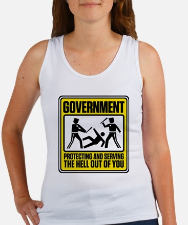 Government: Protect & Serve Women's Tank Top
