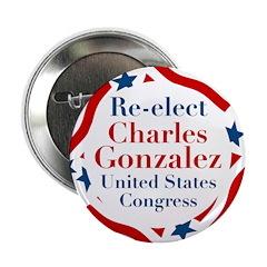 Charles Gonzalez campaign button