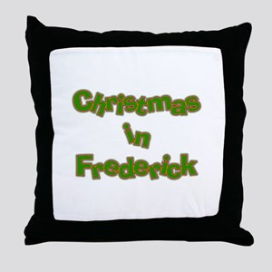 Christmas in Frederick Throw Pillow