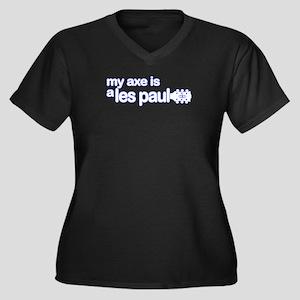 Axe_LesPaul Women's Plus Size V-Neck Dark T-Shirt