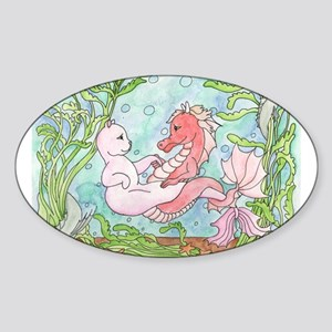 Underwater Dance Oval Sticker