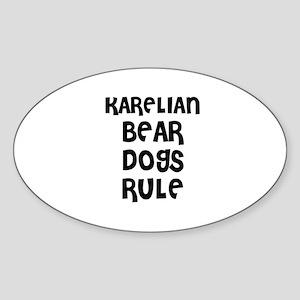 KARELIAN BEAR DOGS RULE Oval Sticker