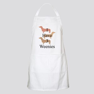 I Have 3 Weenies Apron