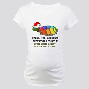 Frank The Christmas Turtle Maternity T-Shirt
