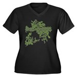 {SCRAPBOOK Women's Plus Size V-Neck Dark T-Shirt