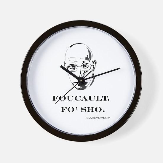 """""""Foucault, Fo' sho"""" Wall Clock"""