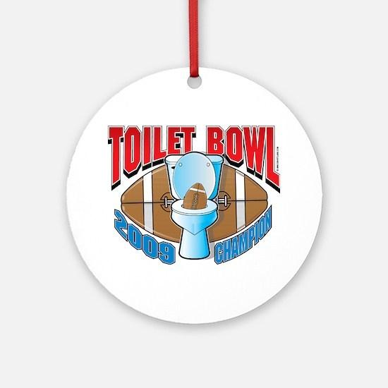 2009 Fantasy Football Toilet Ornament (Round)