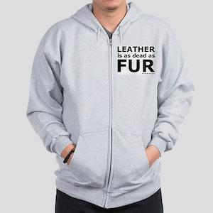 Leather = Dead Zip Hoodie