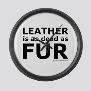 Leather = Dead Large Wall Clock