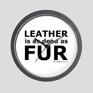 Leather = Dead Wall Clock