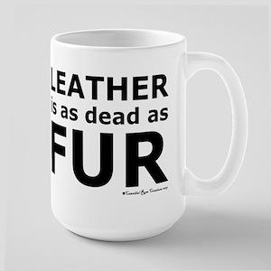 Leather = Dead Large Mug