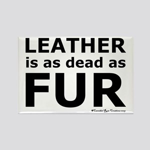 Leather = Dead Rectangle Magnet