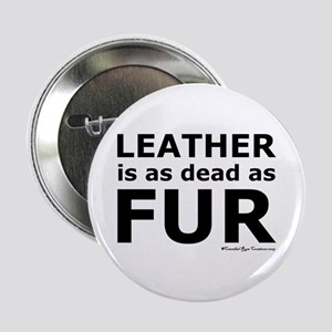 "Leather = Dead 2.25"" Button"