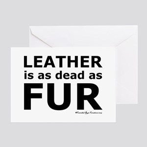 Leather = Dead Greeting Card