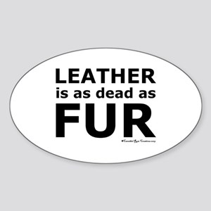 Leather = Dead Oval Sticker