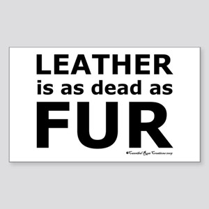 Leather = Dead Rectangle Sticker