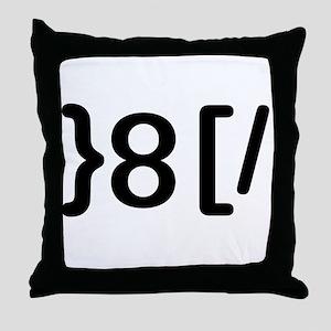 GROUCHOticon Throw Pillow