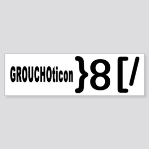 GROUCHOticon Bumper Sticker