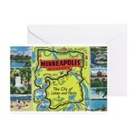 1940's City of Lakes and Parks Greeting Cards (Pk