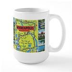 1940's City of Lakes and Parks Large Mug