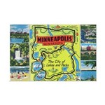 1940's City of Lakes and Parks Mini Poster Print