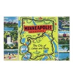 1940's City of Lakes and Parks Postcards (Package