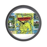 1940's City of Lakes and Parks Wall Clock
