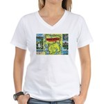 1940's City of Lakes and Parks Women's V-Neck T-Sh
