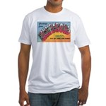 1950 Greetings from Minneapolis Fitted T-Shirt