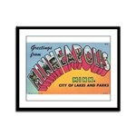 1950 Greetings from Minneapolis Framed Panel Print