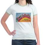 1950 Greetings from Minneapolis Jr. Ringer T-Shirt