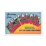1950 Greetings from Minneapolis Mini Poster Print
