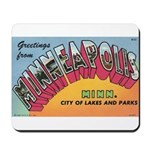 1950 Greetings from Minneapolis Mousepad