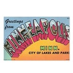 1950 Greetings from Minneapolis Postcards (Package