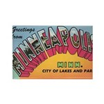 1950 Greetings from Minneapolis Rectangle Magnet
