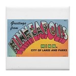 1950 Greetings from Minneapolis Tile Coaster