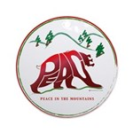 Peace (Bear) in the Mountains Ornament (Round)
