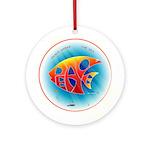 Peace (Fish) under The Sea Ornament (Round)