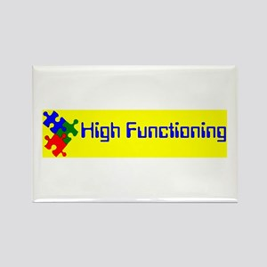 High Functioning Autistic Rectangle Magnet