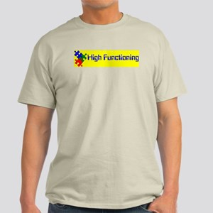 High Functioning Autistic Ash Grey T-Shirt