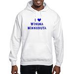 I Love Winona Winter Hooded Sweatshirt