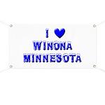 I Love Winona Winter Banner