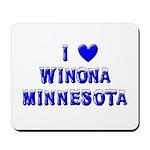 I Love Winona Winter Mousepad