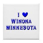 I Love Winona Winter Tile Coaster