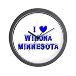 I Love Winona Winter Wall Clock