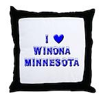 I Love Winona Winter Throw Pillow